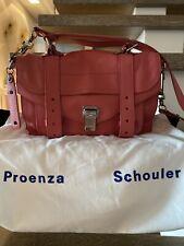 100% originale Proenza Schouler PS 1 Small Borsa! Flamingo Rosa! Neuw