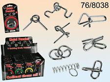 Metal Puzzles - Can You Seperate The Pieces? - 9 Assorted Styles -