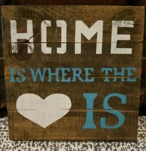 Hobby lobby home is where the heart is wall sign wood Primitive