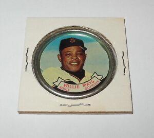 1964 Topps Baseball Coin Pin #80 Willie Mays San Francisco Giants Near Mint