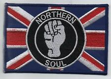 NORTHERN SOUL UNION JACK Iron On/ Sew On Embroidered Patch Badge High Quality