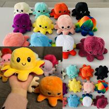 Reversible Octopus Plush USA Plushie Flip Emotion Pillow Stuffed Toy Baby Gift