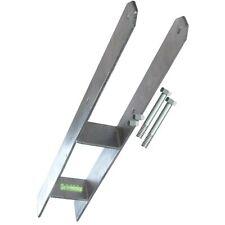 4x H-Anker 11x11 Pfostenträger mit 8 Schrauben 10x130 mm Betonanker 11x11 cm