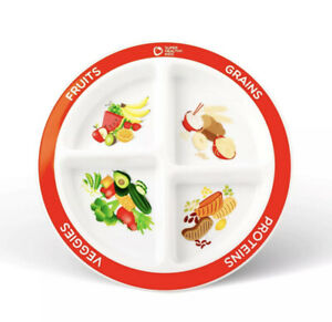 Health Beet Portion Plate Choose MyPlate for Kids, Toddlers