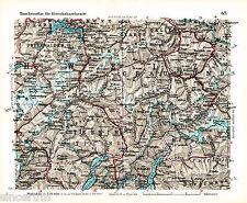 Chur Bernardino Albula 1933 Eisenbahnkarte Lugano Tessin Schwyz Gotthard Airoli