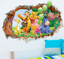 Lovely Winnie The Pooh Wall Stickers Living Room Home Decor Art Mural UK Seller