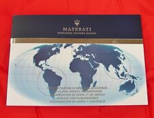 Maserati Sales and Service Listing - VERY RARE Original Owners Handbook - 2011