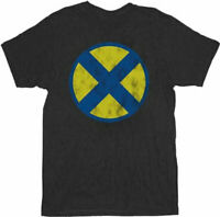 X-Men Distressed X Logo Black Adult T-Shirt