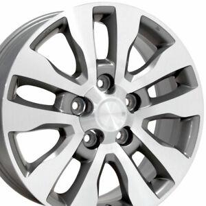 "OEW 20"" Wheel Rim Fits Toyota Tundra TY11 Silver Mach'd Face 69533 20x8"