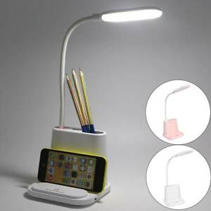 4 in1 Dimmable USB Rechargeable LED Light Desk Lamp Bed Reading Study Light