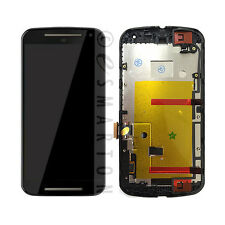 LCD Touch Screen Frame Black For Motorola Moto G 2nd Gen XT1063 XT1064 XT1068