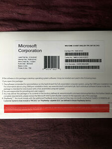 Windows 10 Home 64 bit install dvd- product key new os