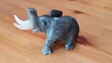 Collectible Grey & White Quartz Elephant Figurine
