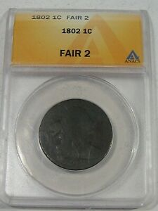 1802 Draped Bust Large Cent ANACS Fr. 2.  #27