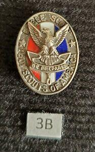 Vintage Type 3b Sterling Silver Eagle Boy Scout Hat Pin Medal Award Rank