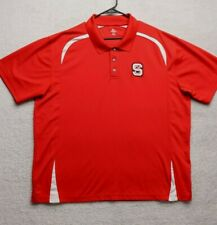 New listing Knights Apparel Adult 2XL Red NC State Short Sleeve Polo Golf Shirt Mens