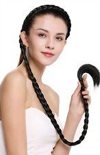 Haarteil Zopf an Haarreif geflochten super lang Tracht schwarz 95 cm N1038-1