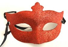 NEW Red glitter Masquerade Mask Eye Gothic halloween fancy dress