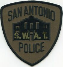 SAN ANTONIO TEXAS TX subdued green SWAT POLICE PATCH