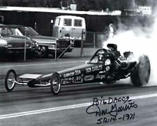 DON GARLITS SIGNED AUTOGRAPHED 8x10 PHOTO + BIG DADDY NHRA LEGEND BECKETT BAS