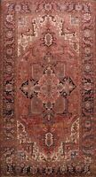 Antique Geometric Vegetable Dye Heriz Serapi Hand-knotted Area Rug Wool 8'x12'