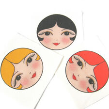 Rag Doll Faces Doll Making Supplies Set of 3 sew in cloth doll faces