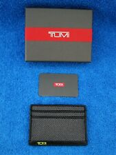 Tumi Mens Alpha Reflective RFID Slim Card Case ID Wallet w/Tags & Box - New !