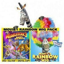 Madagascar 3: Europe's Most Wanted DVD + Bonus Marty's Rainbow Wig NEW
