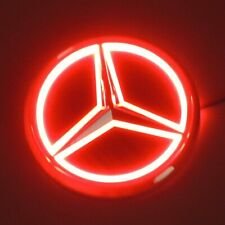 5D LED Car Tail Logo Red Light Badge Emblem Light For Mercedes-Benz S350 S300L