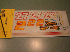 #27or #2 Rusty Wallace 1991 MILLER THUNDERBIRD WATER SLIDE DECAL SHEET 1/24