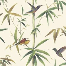Essener Tapete Global Fusion G56412 Hummingbird Reed Bamboo Fleece Wallpaper