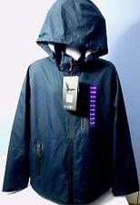 Men Hawke & Co. Sport Navy Blue Waterproof Seam Seal Hooded Rain Jacket XXL NWT