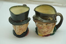 ROYAL DOULTON TOBY MUG CHARACTER JUG LOT 2 JOHN PEEL LADDY BOTH A MARKS SMALL