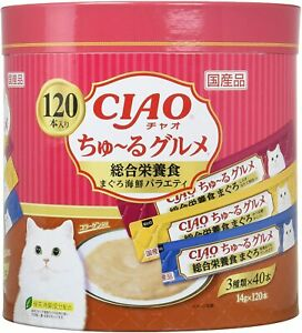 CIAO Churu Gourmet Comprehensive  Cat Treats Tuna Seafood Mix Flavor