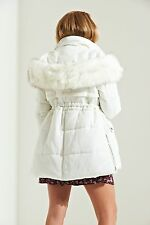Womens Padded Coat In Cream & Pink Sizes 8-16