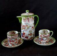 Antique Japanese hand painted porcelain tea set