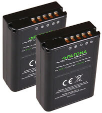2 x Patona Premium Akku für Olympus OM-D E-M1 / E-M5 / E‑M5 Mark II - BLN-1