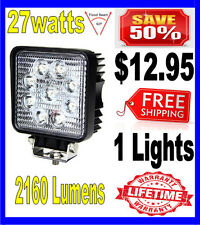 27W 27watt 12V 24V 2160Lumen Offroad SUV LED Square Work Light Truck Boat Lamp
