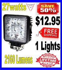 27W 27watt 12V 24V 2160Lumen Offroad SUV LED Square Work Light Truck Boat Lamp