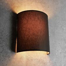 Moderno Desván Lámpara de Pared en Marrón E27 Pantalla de Tela Aplique Lámparas