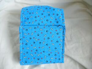 "Dog Puppy Belly Band Wrap Contoured Diapers Male Puppy Flannel lined 23"" BONES"