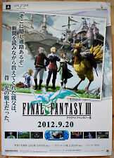 Final Fantasy Iii Rara Psp 51.5 cm X 73 Cm Cartel Promo Japonés
