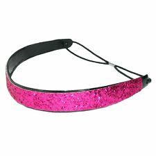 SportyCouture Goddess Glitter Headband Non-Slip 1 Inch Wide Hot Pink