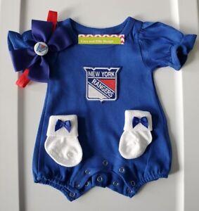Ny Rangers newborn/baby clothes girl New York hockey baby NY Rangers baby gift