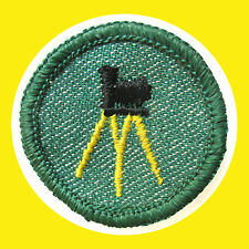 PHOTOGRAPHY 1950s Girl Scout Intermediate NEW Badge Tripod Camera Stand Combine