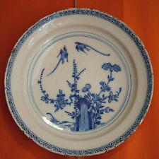 Delft plate? English Delftware? Grand plat en faience XVII-XVIII Chinoiserie