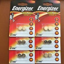 12 X Energizer LR44 1.5 V pile alcaline A76 AG13 PX76A G13A Piles