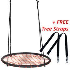 100cm Orange Round Web Nest Swing + FREE Tree Straps