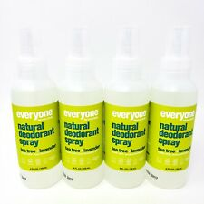 Lot of 4 Everyone for Every Body Spray Natural Deodorant Tea Tree Lavender EO