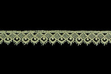 CLEARANCE! 15mm Scalloped Cream Lace Trim (Cotton) - 27 Metres